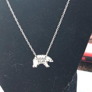 MAMA Bear Silver Necklace